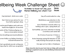 Wellbeing week challenge sheet 1
