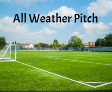 All weather pitch empty