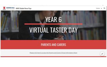 Year 6 Virtual Taster Day