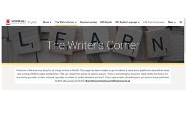 Outstanding Work, The Writer's Corner