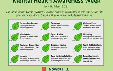 Mental Health Awareness Week: 10-16 May 2021